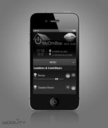 Interface iPhone, Android, Blackberry, windowsPhone multiplateforme WEB en html5 de gestion du système domotique myHome